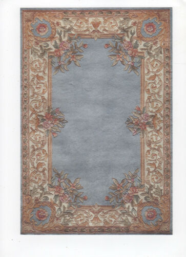 """1:12 or 1"""" Scale Dollhouse Miniature Area Rug Approx. 7"""" x 10-1/2"""" - 0001314"""