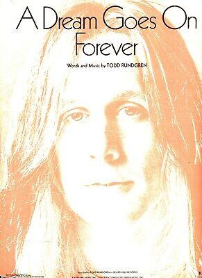 TOOD RUNDGREN A DREAM GOES FOREVER SHEET MUSIC-PIANO/VOCAL/GUITAR/CHORDS-1994