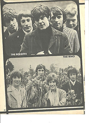 The Bee Gees, The Who, Full Page Vintage Pinup