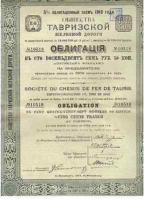 Russland: Chemins de Fer de Tauris  1913 St. Petersburg