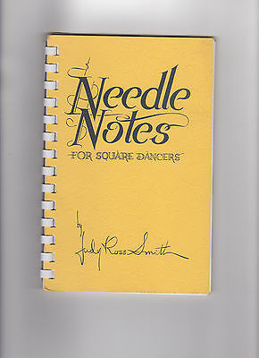 Vintage 1970s NEEDLENOTE FOR SQUARE DANCERS sewing booklet spiral bound 90p
