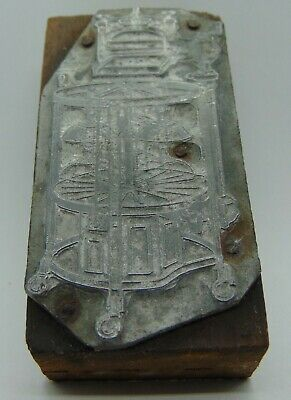 Vintage Printing Letterpress Printers Block Old Machine