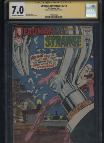 Strange Adventures #210 CGC 7.0 SS Neal Adams 1968 DEADMAN