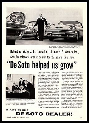 1958 De Soto San Francisco California James F. Waters Car Dealership Print Ad