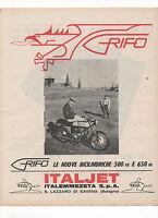 Pubblicità 1966 Moto Motor Italjet Grifo Advertising Publicitè Werbung Reklame -  - ebay.it