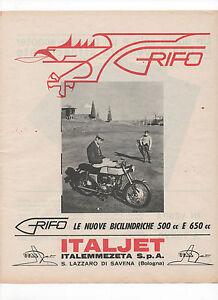 Pubblicita-1966-MOTO-MOTOR-ITALJET-GRIFO-advertising-publicite-werbung-reklame