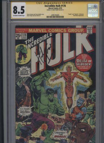 Incredible Hulk #178 CGC 8.5 SS Herb Trimpe ADAM WARLOCK 1974