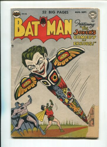 Batman #66 Joker cover & story 1951 DC Golden Age Poor Cover loss