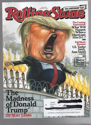 Rolling Stone Magazine October 5, 2017 Donald Trump U2 Taylor Swift Sam Smith