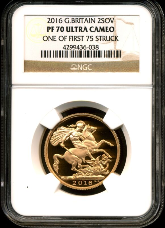Great Britain 2016 Gold 2 Sovereign PF70 Ultra Cameo NGC 4299436-038