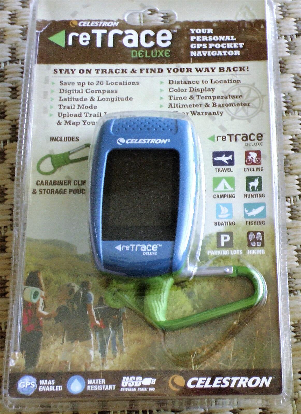 Celestron Retrace Deluxe Personal Gps Pocket Navigator - Blue