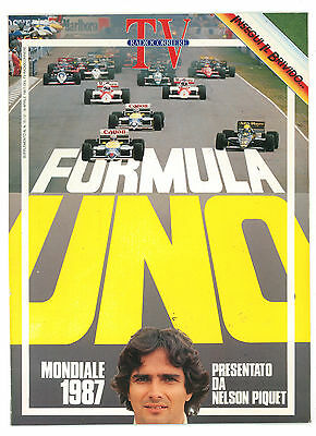 TV RADIOCORRIERE SUPPLEMENTO N 15 APRILE 1987 FORMULA UNO MONDIALE NELSON PIQUET