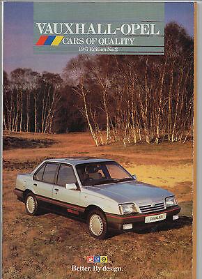 1987 Vauxhall-Opel brochure:Nova, Astra, Cavalier, Opel Manta, Carlton, Senator