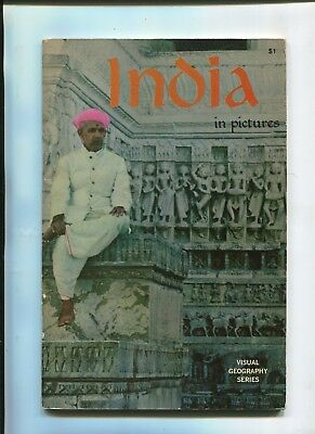 Vintage Brochure Booklet INDIA IN PICTURES Visual Geography Series 1969