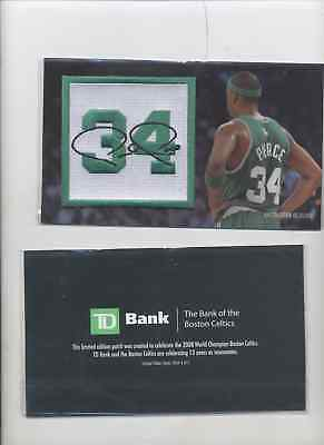 1- Boston Celtics 2008 NBA Champions Paul Pierce Jersey Retirement PATCH ++++SGA