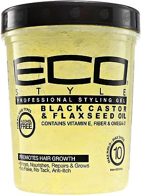 ECO Styler Black Castor - Flaxseed Oil Gel 32 oz