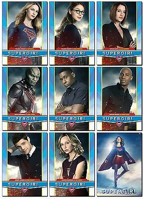 SUPERGIRL Season 2 TV Show - 9 Card Promo Set