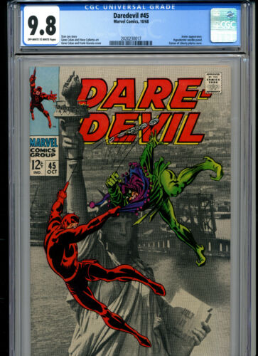 DAREDEVIL #45 CGC GRADED 9.8 (1968 MARVEL) STAN LEE STORY JESTER APPEARANCE