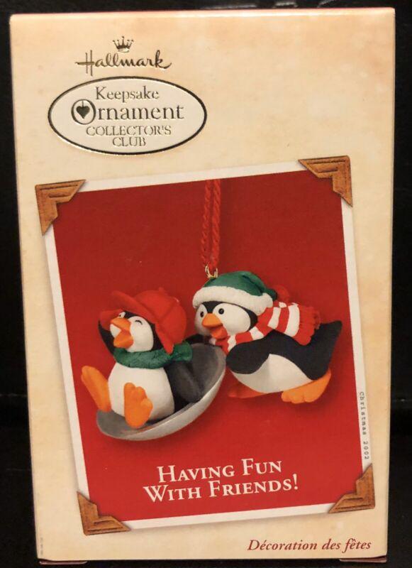 "2002 Hallmark ""Having Fun With Friends!"" KOC Ornament! NEW IN BOX!"