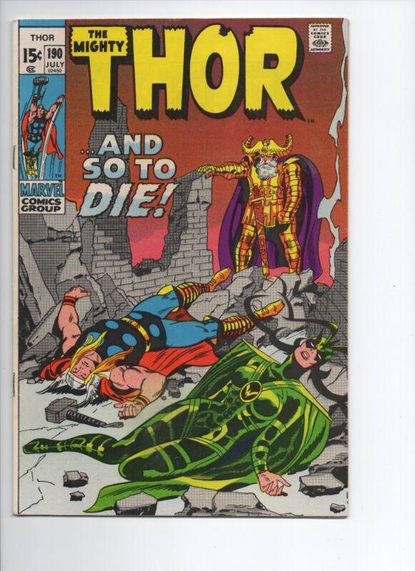 Thor #190 (Jul 1971, Marvel)
