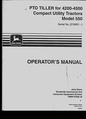 John Deere - Operators Manual - Pto Tiller 4200-4500 Compact Utility Tractors