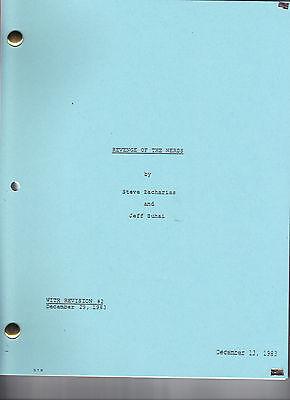 REVENGE OF THE NERDS movie script
