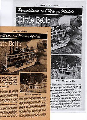 Drawings, Instructions, Riverboat Dixie Bell, display or RC Live Steam model !