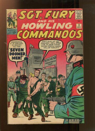 SGT FURY & HIS HOWLING COMMANDOS #2 (6.0) SEVEN DOOMED MEN! 1963