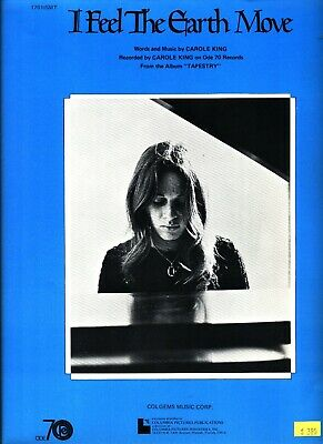 CAROLE KING I FEEL THE EARTH MOVE SHEET MUSIC PIANO/VOCAL/GUITAR/CHORDS NEW 1971