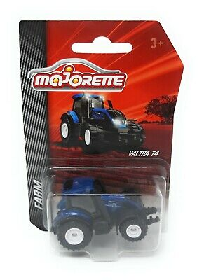Majorette Farm Serie Model Car metal Tractor Valtra T4 blue for sale  Shipping to Canada