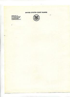 Vintage Letterhead 10 sheets US COAST GUARD COMMANDANT  HQ Washington DC