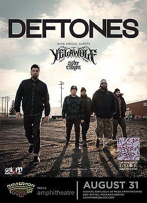DEFTONES/YELAWOLF/SISTER CRAYON 2016 PHOENIX CONCERT TOUR POSTER-Alt Metal Music