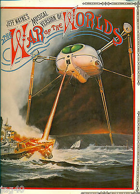 Jeff Wayne Musical War of the Worlds song book Movie film soundtrack piano score