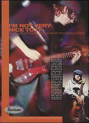 Ibanez Jet King Guitar 8 x 11 ad w/ Division of Laura Lee guitarist David Ojala, used for sale  Flint