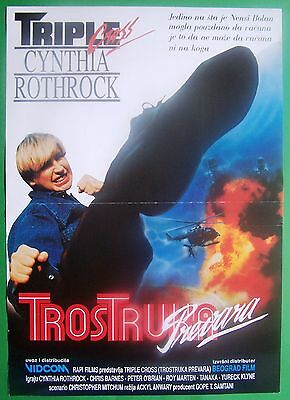 ANGEL OF FURY-CYNTHIA ROTHROCK/CHRIS BARNES-ORIGINAL YUGOSLAV MOVIE POSTER 1992
