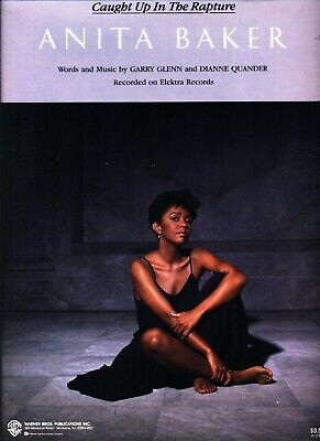 ANITA BAKER CAUGHT UP IN THE RAPTURE SHEET MUSIC PIANO/VOCAL/GUITAR/CHORDS 1987