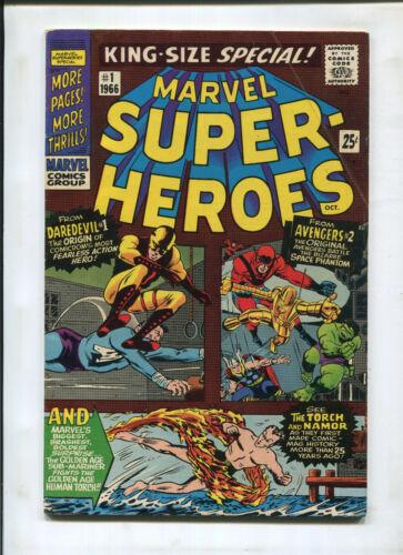 MARVEL SUPER-HEROES #1 (6.5) ORIGIN DAREDEVIL #1 AVENGERS #2 TORCH AND NAMOR!