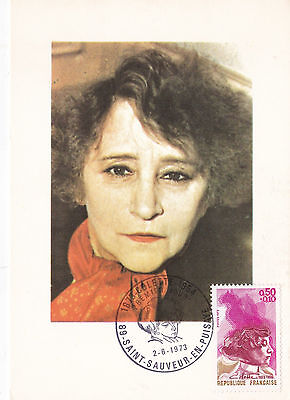 France 1973 Colette Maxim Card Unused VGC