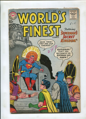 WORLDS FINEST #111 (5.0) 1ST APPEARANCE OF CLOCK KING!