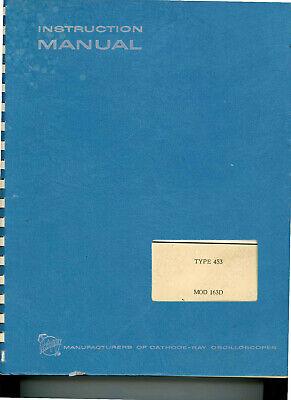 Tektronix 453r453 Mod 163d Oscilloscope User Service Manual