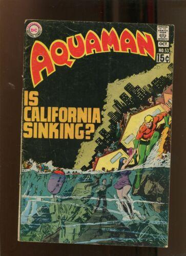 AQUAMAN #53 (9.2) IS CALIFORNIA SINKING!? 1970