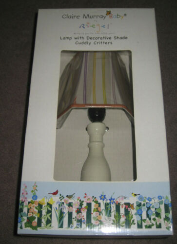 Claire Murray Baby Riegel Lamp and Shade Cuddly Critters / New