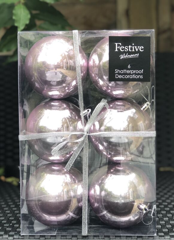 %2ANEW+IN+%2A+12+X+Large+8cm+Pale+Blush+Pink+Shatterproof+Christmas+Tree+Baubles