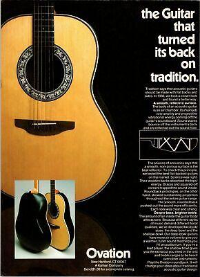 MAC DAVIS PINUP photo 70/'s OVATION AD acoustic guitar