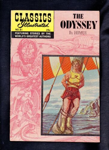 CLASSICS ILLUSTRATED #81 VF  HRN169 (THE ODYSSEY) HOMER