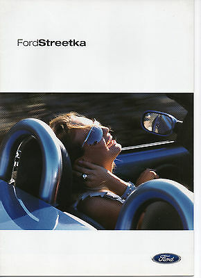 FORD STREET KA BROCHURE 2002 NEVER LEFT SHOWROOM