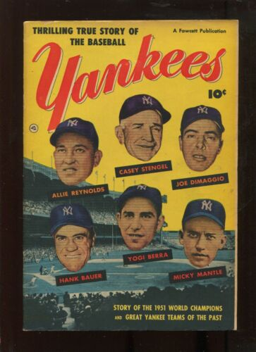 THRILLING TRUE STORY OF THE BASEBALL YANKEES (4.5) MANTLE BERRA DIMAGGIO COVER