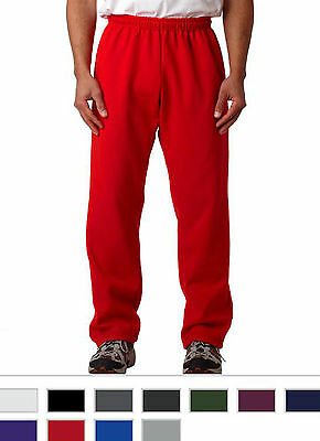 Gildan Mens Sports Pants Heavy Blend Open Bottom Sweatpants