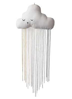 FABELAB Rainbow Cloud Mobile / Kissen / Wolke zum aufhängen mit Regenbogen Faden