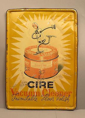 ri5546:Blechschild, von 1947,CIRE Vacuum Cleaner, Selten,datiert. tolle Werbung!